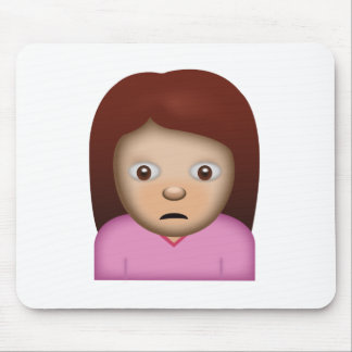 Person Frowning Emoji Mouse Pad