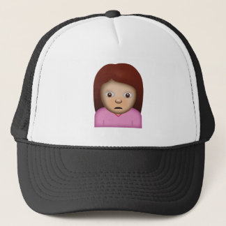 Person Frowning Emoji Trucker Hat