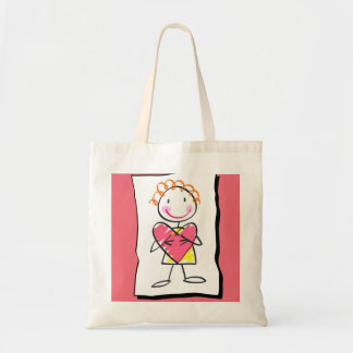 Person Holding Heart Valentine's Day Bag