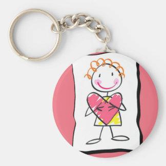 Person Holding Heart Valentine's Day Keychain