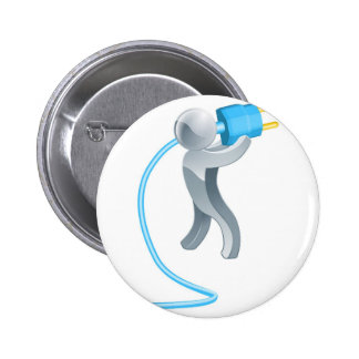 Person holding plug pin