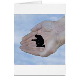 Person in Prayer in God s Hands Greeting Card