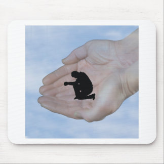 Person in Prayer in God s Hands Mouse Pads