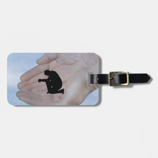 Person in Prayer in God s Hands Travel Bag Tag