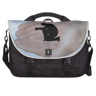 Person in Prayer, in God's Hands Bag For Laptop