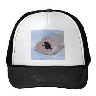 Person in Prayer, in God's Hands Mesh Hats