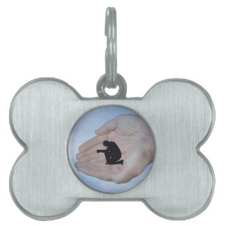 Person in Prayer, in God's Hands Pet Tag