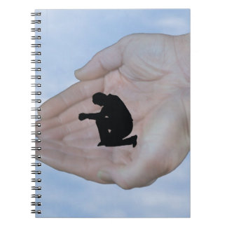 Person in Prayer, in God's Hands Spiral Note Book