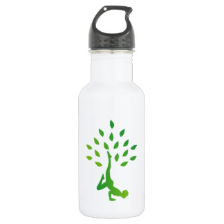 Person in yoga pose forming a healthy tree 532 ml water bottle