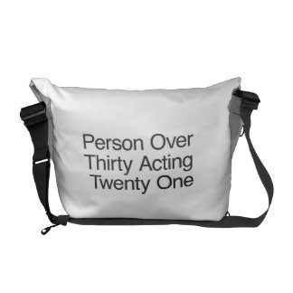Person Over Thirty Acting Twenty One Courier Bags