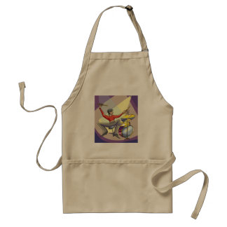 Person Playing The Drums Apron