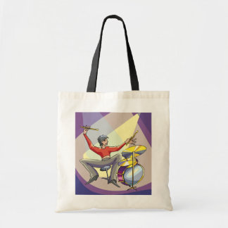 Person Playing The Drums Tote Bag