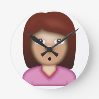 Person with Pouting Face Emoji Round Clock