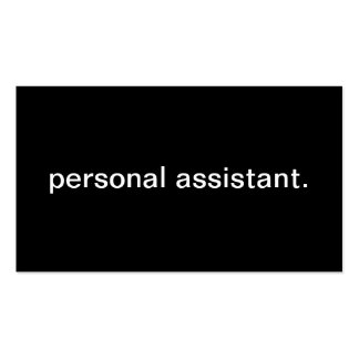Personal Assistant Pack Of Standard Business Cards