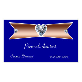 Personal Assistant Copper on Blue Pack Of Standard Business Cards