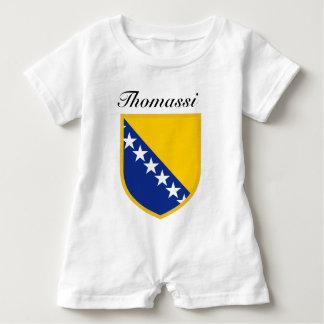 Personal Bosnia Flag Baby Bodysuit
