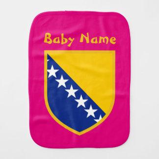 Personal Bosnia Flag Baby Burp Cloth