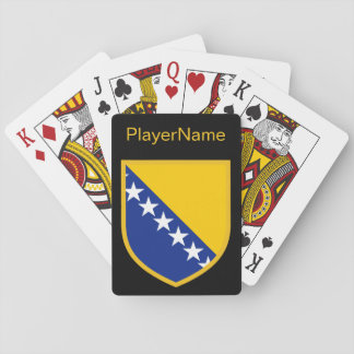 Personal Bosnia Flag Playing Cards