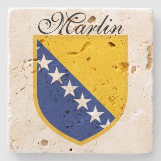 Personal Bosnia Flag Stone Coaster