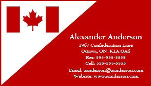 Canada business cards business card printing zazzle personal business card canada reheart Gallery