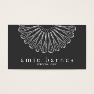 Personal Chef Whisk Logo Black Catering Business Card