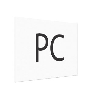 Personal Computer -or- Politically Correct.ai Gallery Wrapped Canvas