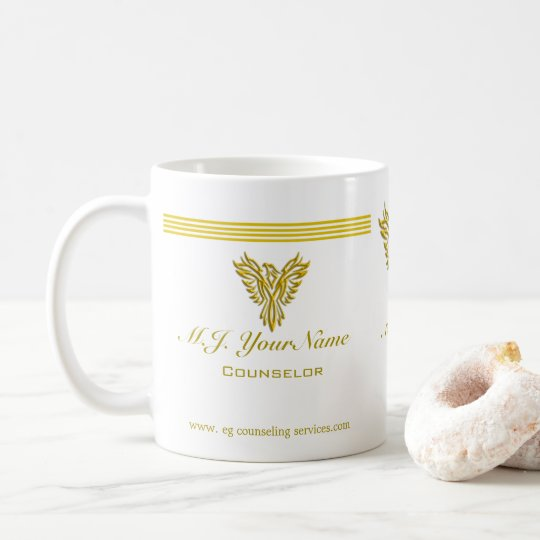 Personal Counsellor luxury gold stripes and Coffee Mug