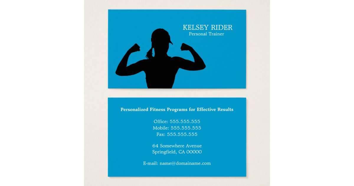 Personal Fitness Trainer Business Card Template