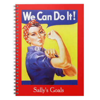 Personal Goals Vintage Rosie The Riveter We Can Spiral Notebook