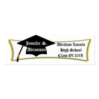 Personal Graduation Card Add Name School Year Business Card