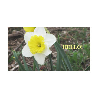 Personal greeter canvas print