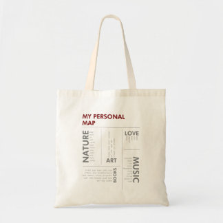 personal map budget tote bag
