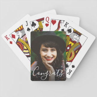 Personal Message Photo Playing Cards