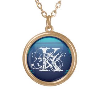 Personal Monogram Round Pendant Necklace