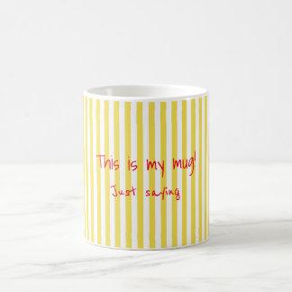 Personal Mugs yellow Stripes