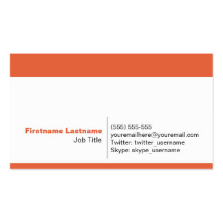 Personal Networking Business Cards in Orange