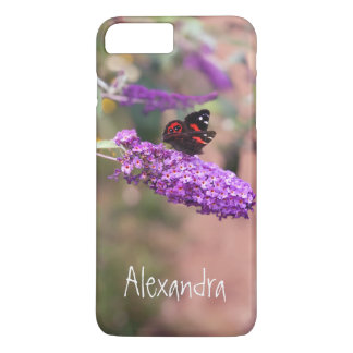Personal Photo Purple Black Butterfly iPhone 8 Plus/7 Plus Case