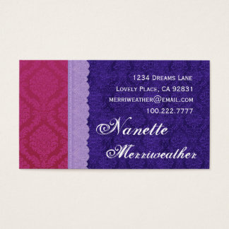 Personal Purple and Blue Damask and Lace V29