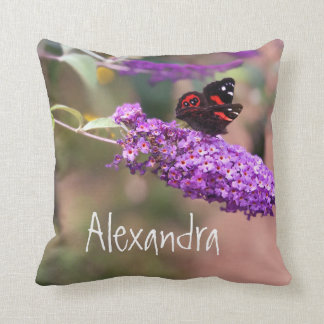 Personal Purple | Black| Red Butterfly Photo Cushion