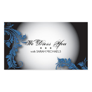 Personal Shopper Business Card Bold Fancy Glitter