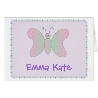 Personal Stationery - Butterfly Pastel Greeting Cards