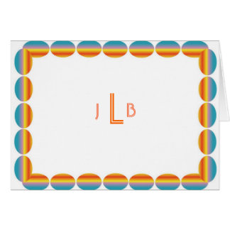 Personal Stationery - Colorful Ovals Monogram Card