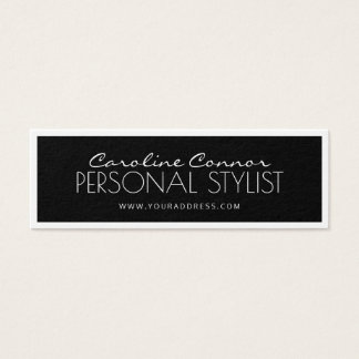 Personal Stylist Black & White Bordered Card