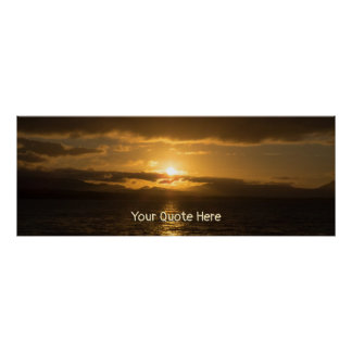 Personal Sunset Panorama Poster