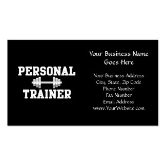 Personal Trainer Black and White Dumbell Training Pack Of Standard Business Cards