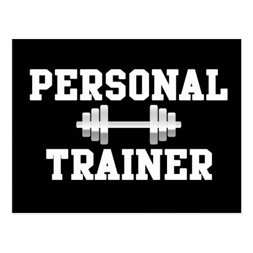 Personal Trainer Black and White Dumbell Training Post Cards