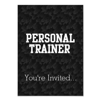 Personal Trainer Black Varsity 11 Cm X 16 Cm Invitation Card