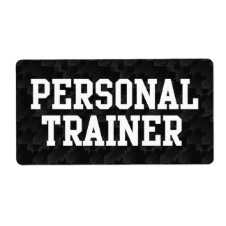 Personal Trainer Black Varsity Shipping Label