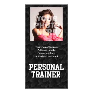 Personal Trainer Black Varsity Customized Photo Card