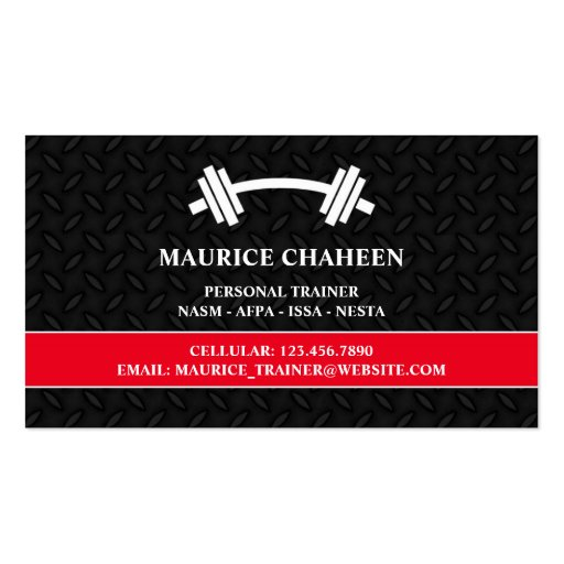 Personal trainer business card zazzle for Business cards for personal trainers